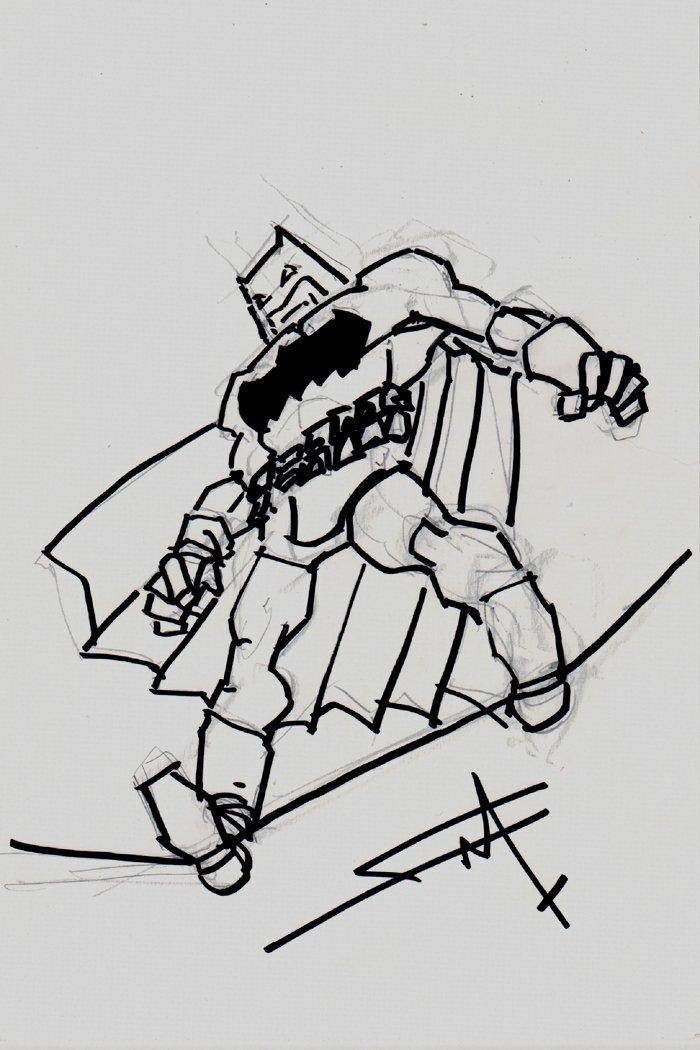 Batman Full Figure Commission Drawing