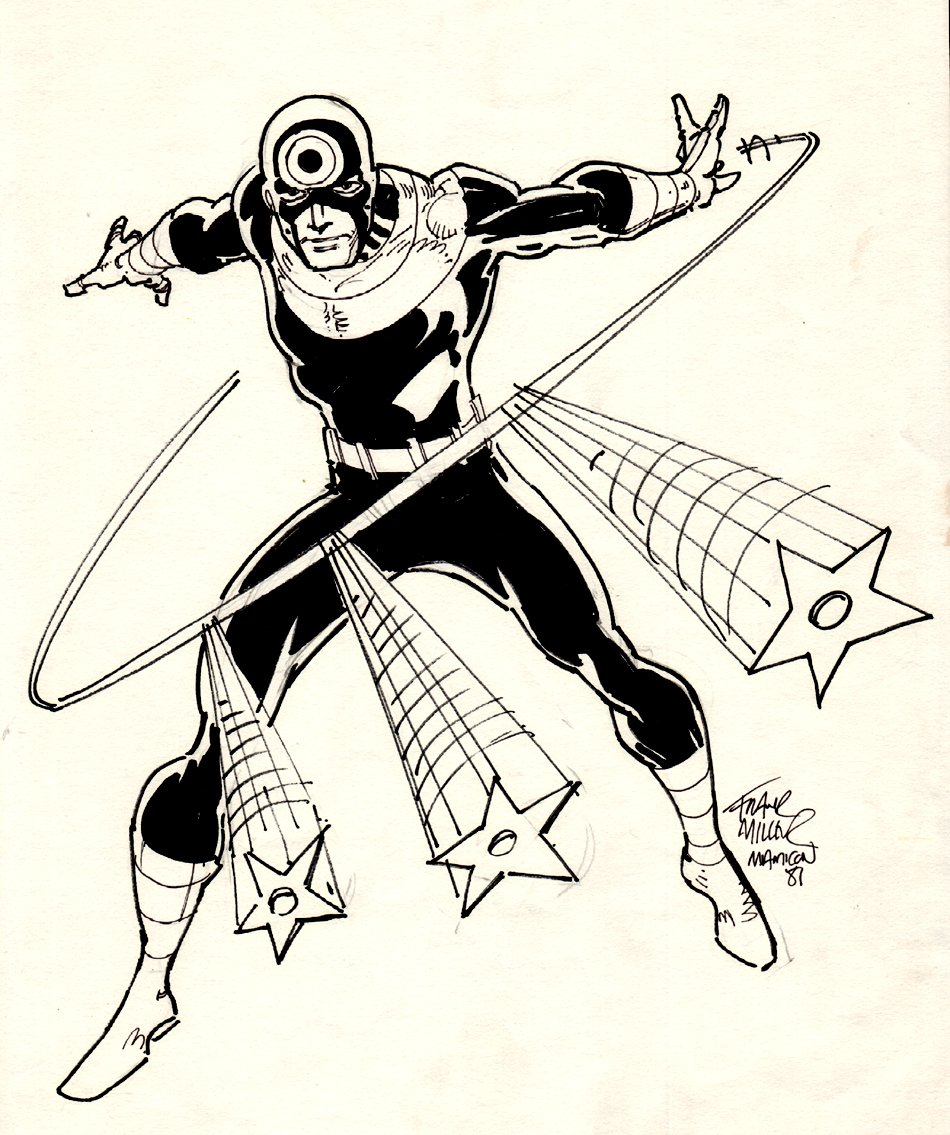 BULLSEYE Full Figure Commission Drawing (1981)