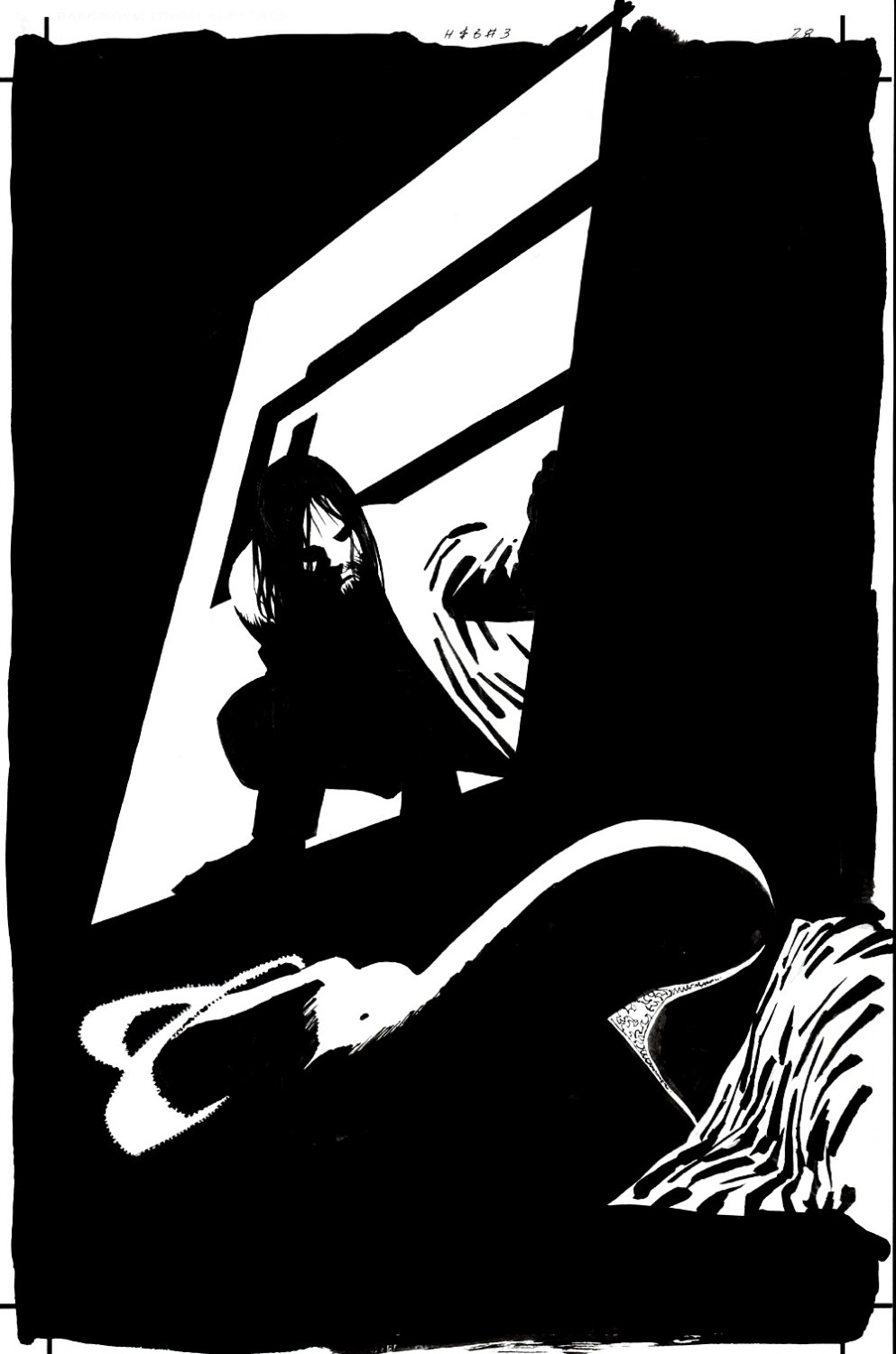 Sin City: Hell and Back #3 P 28 SPLASH (WALLACE SEARCHING FOR ESTHER!) 1999