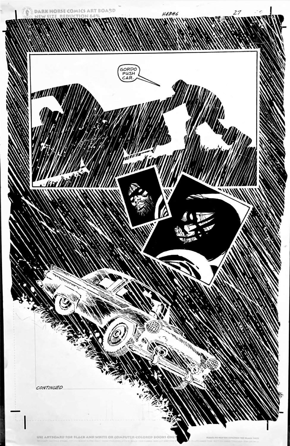 Sin City: Hell and Back #6 P 27 SPLASH (WALLACE! THIS SPLASH FEATURED IN THE 'ART OF FRANK MILLER' BOOK!) 1999