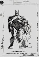 'The Dark Knight Returns' Cover Quality Illustration Drawn On DC Cover Stock (1989) Comic Art