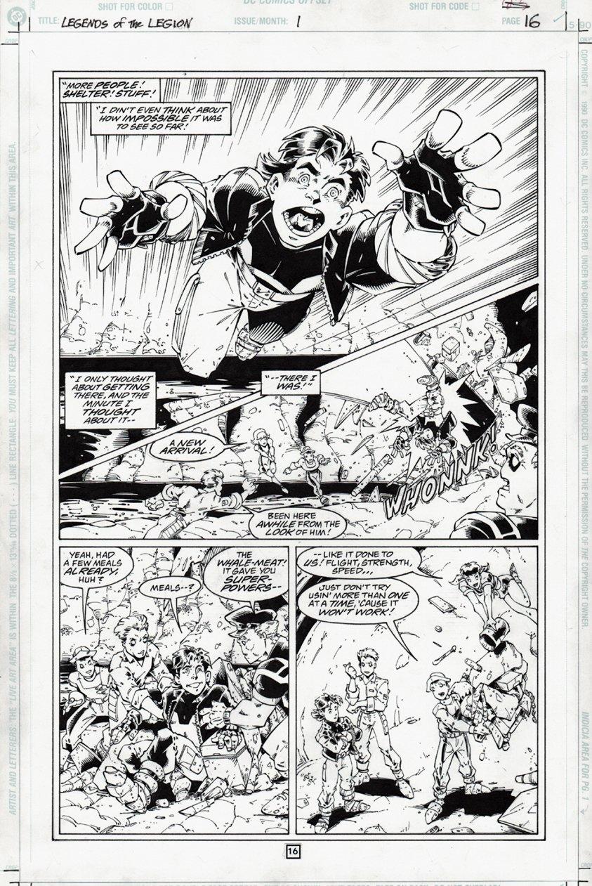 Legends of the Legion #1 p 16 SPLASH (1988)