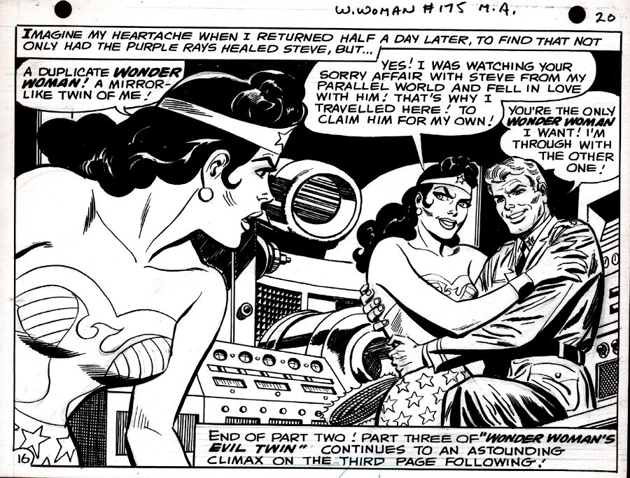 Wonder Woman #175 p 16 Half Splash (SILVER AGE WONDER WOMAN ART!) 1967