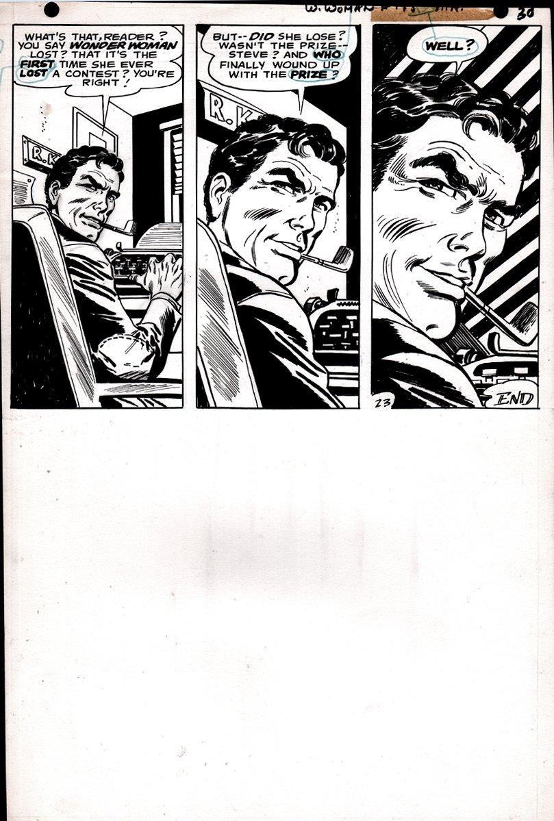 Wonder Woman #175 p 23 LAST PAGE (SILVER AGE WONDER WOMAN ART!) 1967