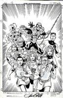 Spider-Man / Fantastic Four 1-Shot Cover Comic Art