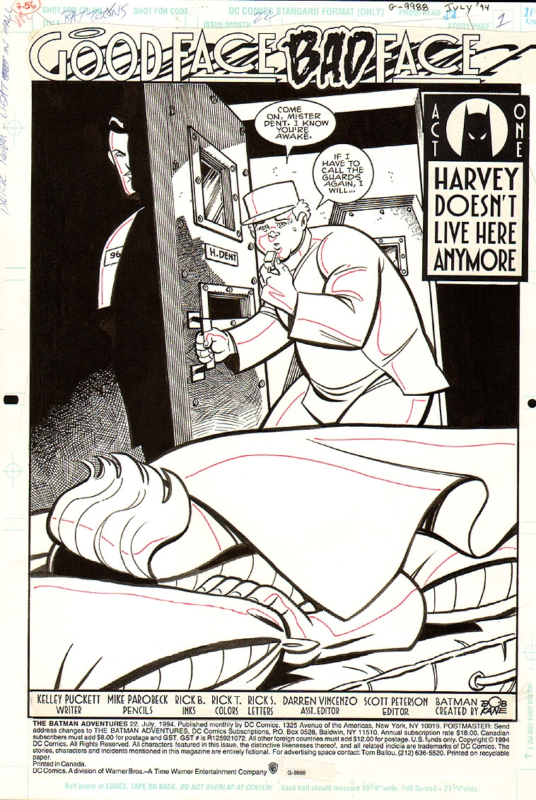 Batman Adventures #22 p 1 SPLASH