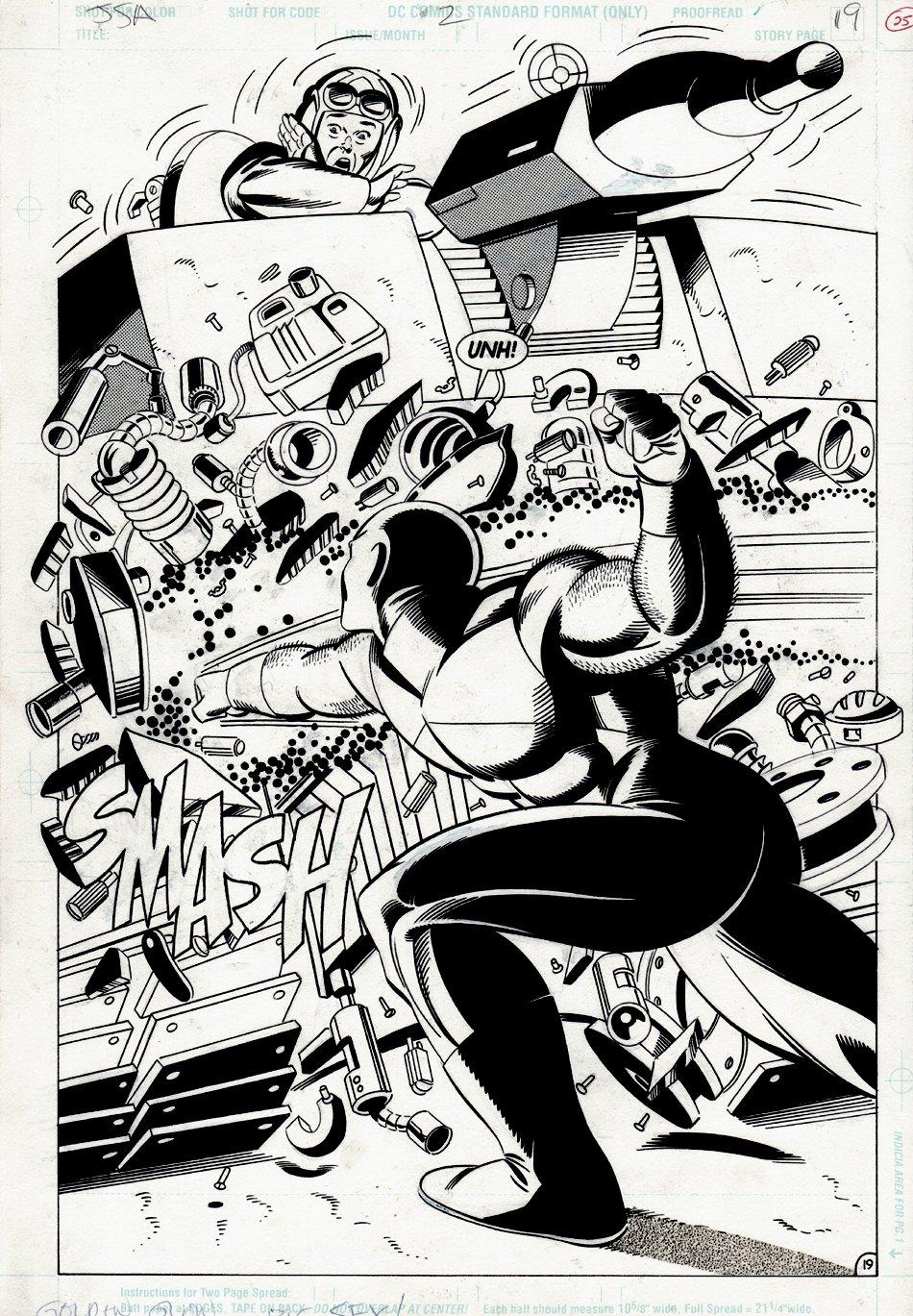 Justice Society of America #2 p 19 SPLASH (Golden Age ATOM!) 1992