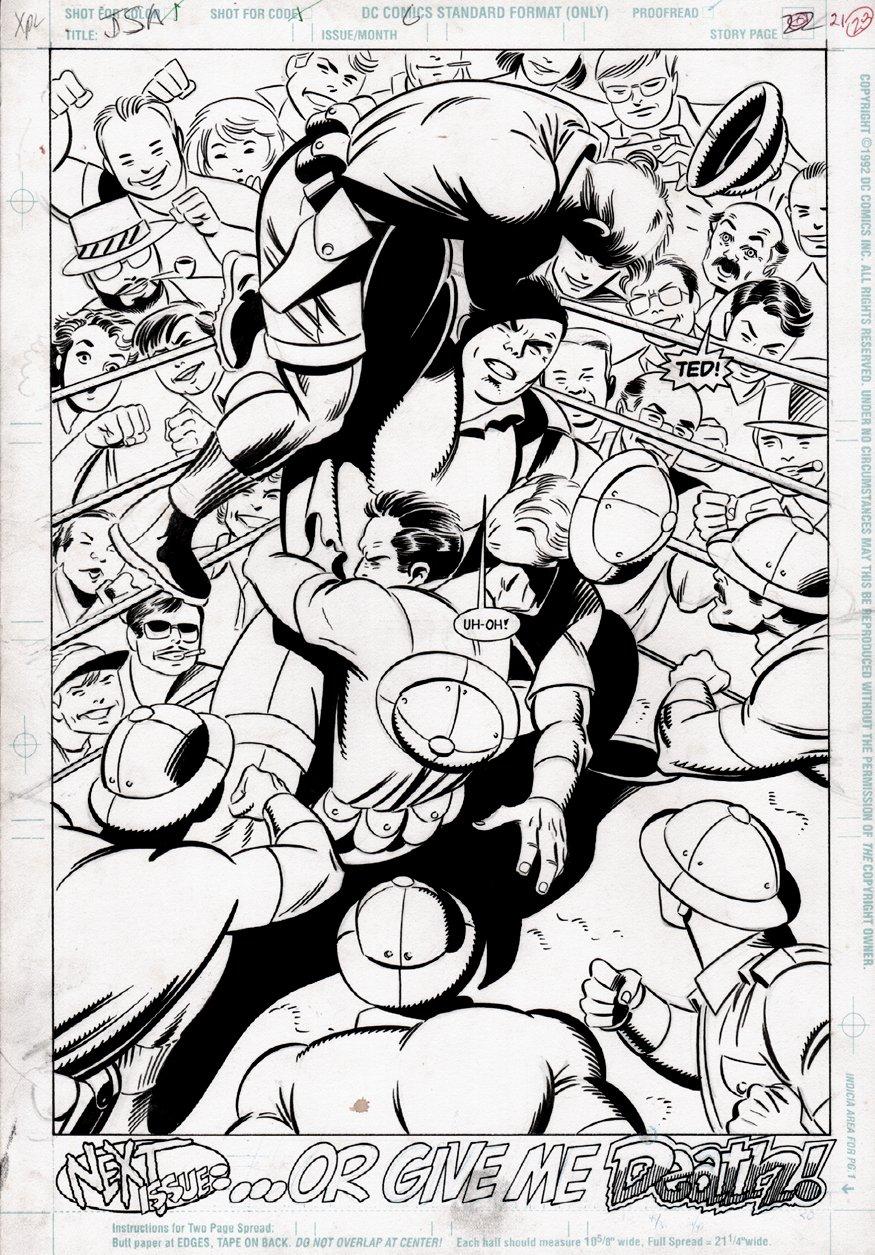 Justice Society of America #6 p 21 SPLASH (1992)