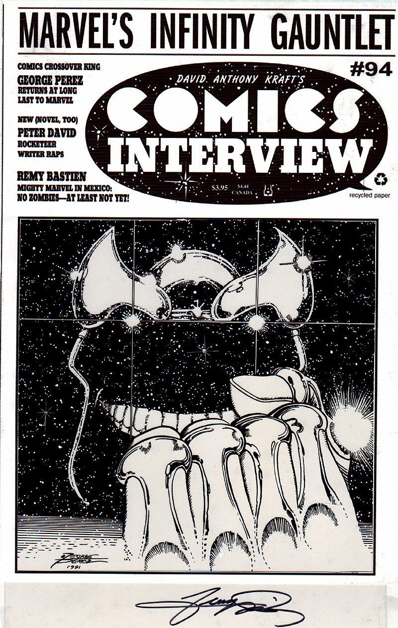 Comics Interview #94 Cover (Infinity Gauntlet #0 Cover) 1991