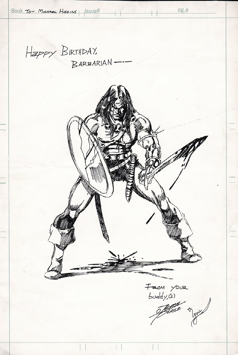 Conan Fully Inked Large Pinup (1975)