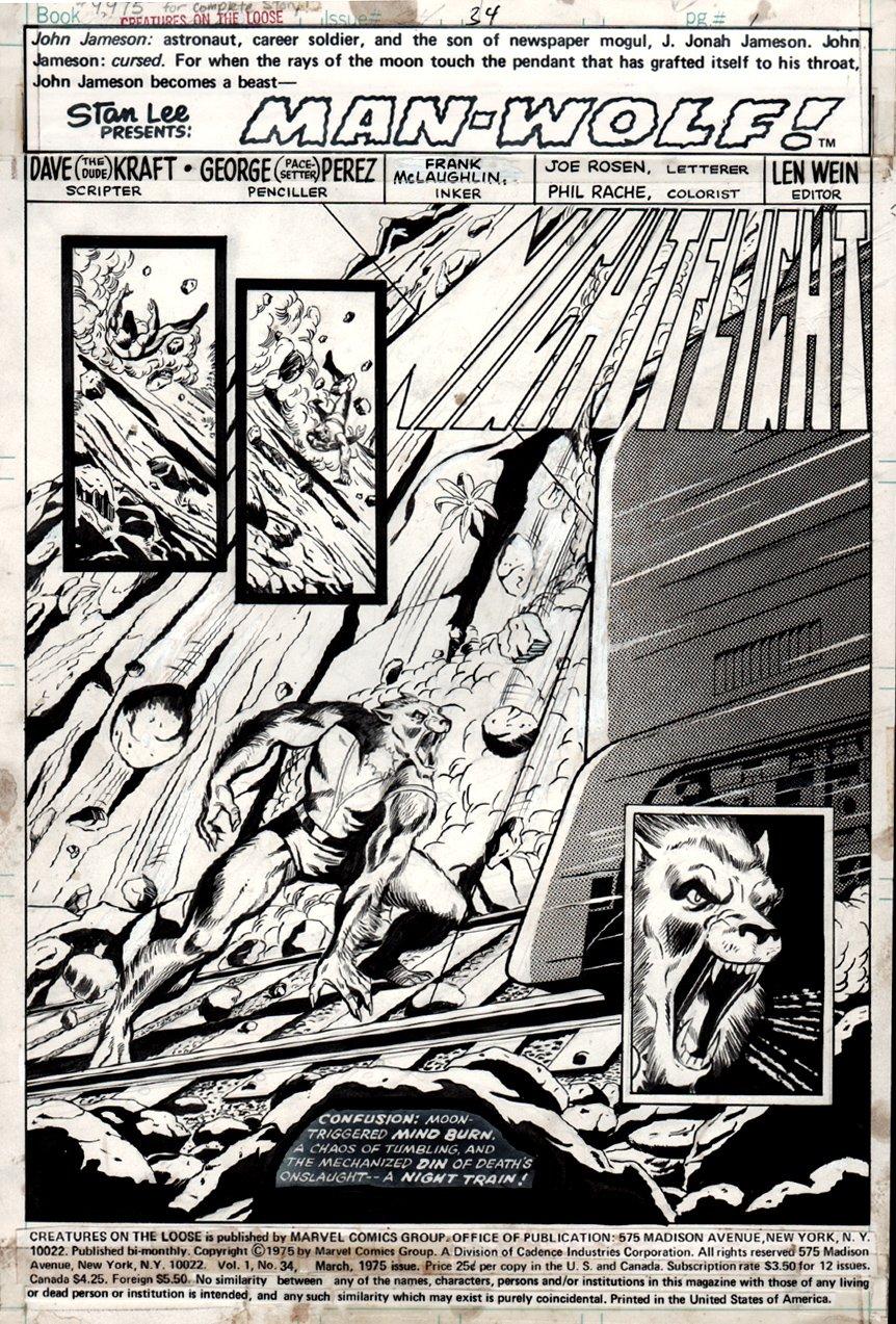 Creatures on the Loose #34 p 1 SPLASH (1975)