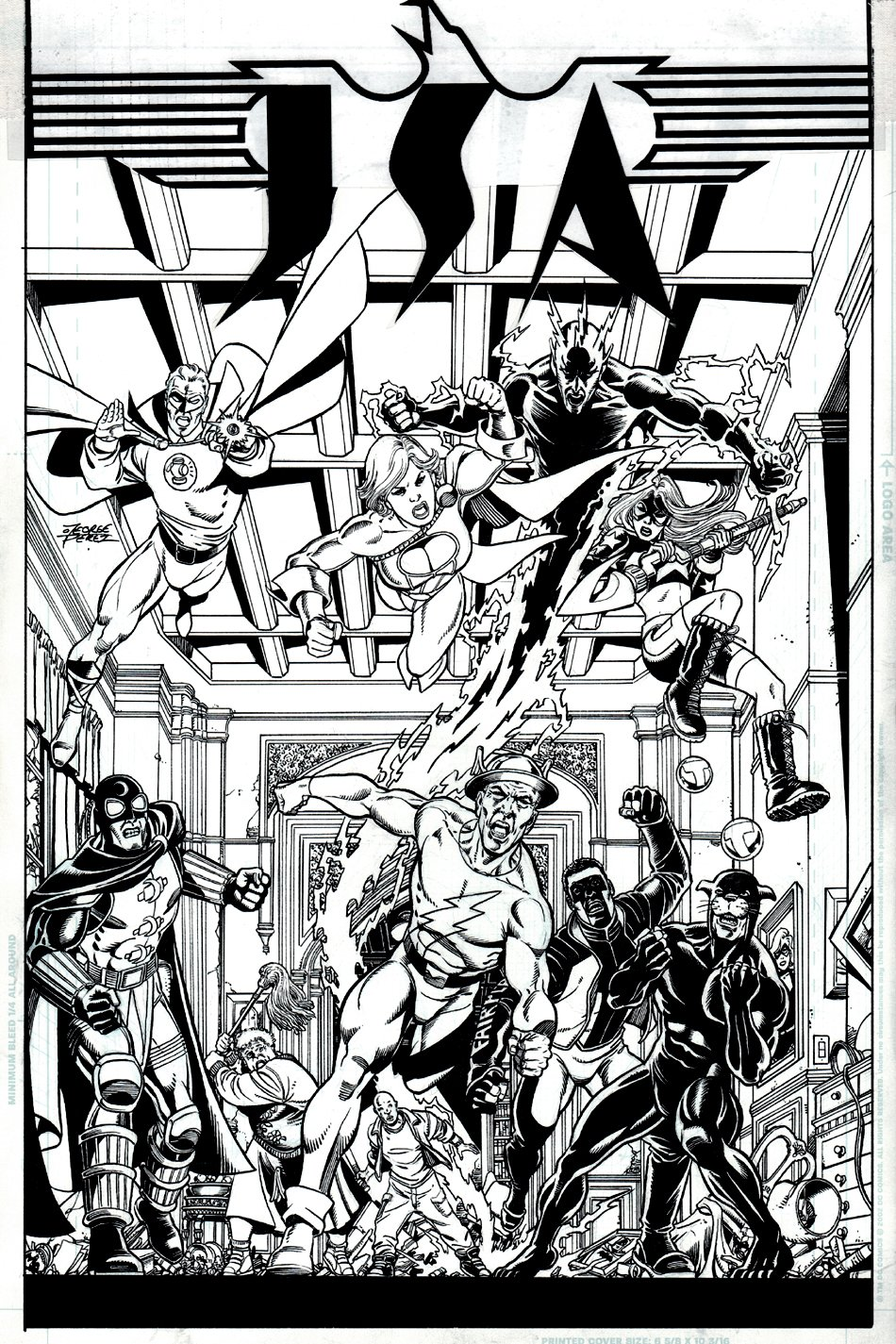 JSA #84 Cover (10 Heroes!) 2006