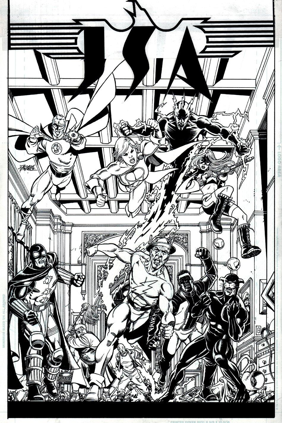 JSA #84 Cover (10 Heroes!) 2006