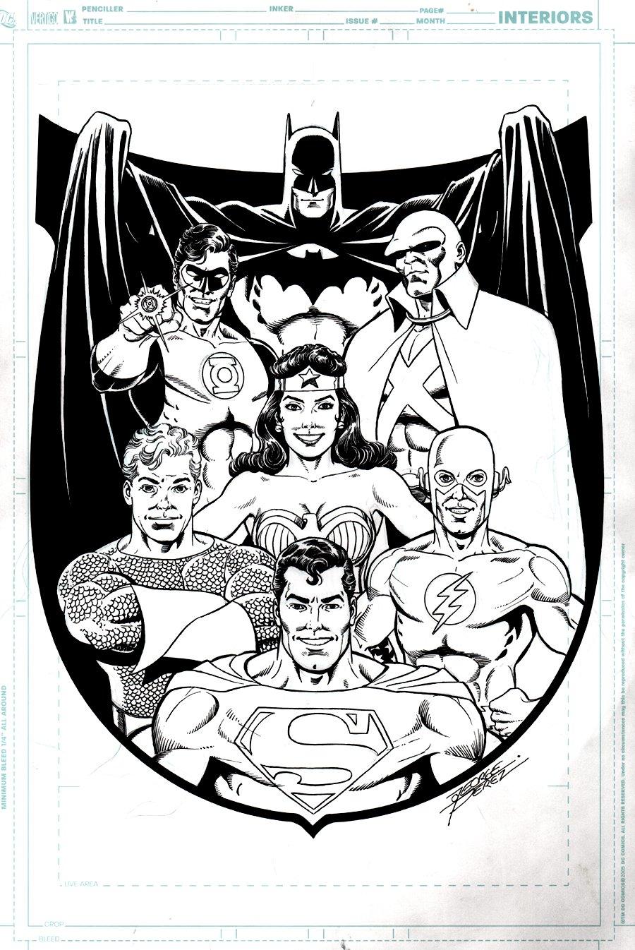 JLA Published Comic-Con Book Cover & T-Shirt Design art