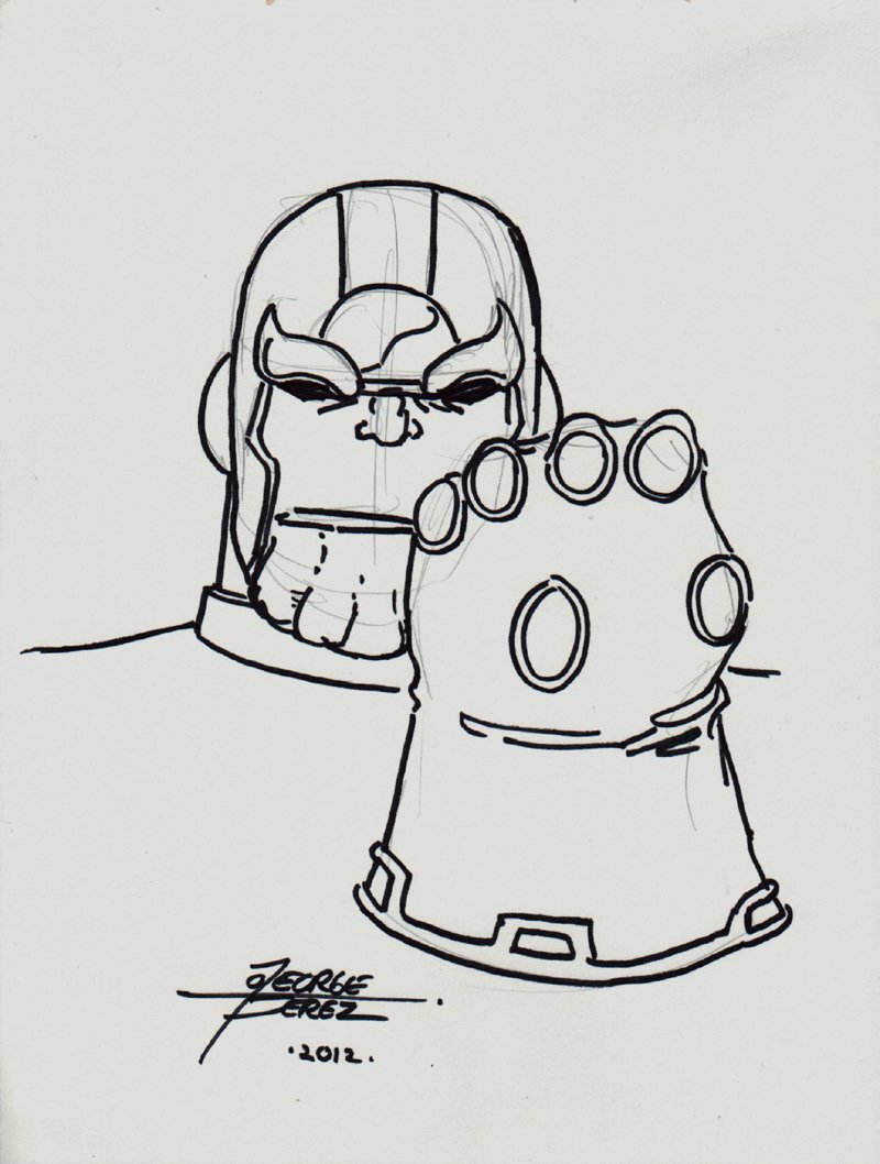 THANOS - Infinity Gauntlet Pinup (2012)