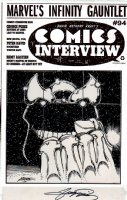 Comics Interview #94 Cover (Infinity Gauntlet #0 Cover) 1991 Comic Art