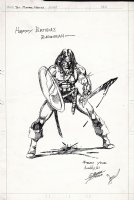 Conan Fully Inked Large Pinup (1975) Comic Art