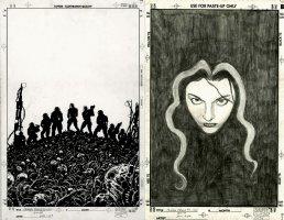Crimson Plague #1 Cover (Double Cover Art) 2000 Comic Art