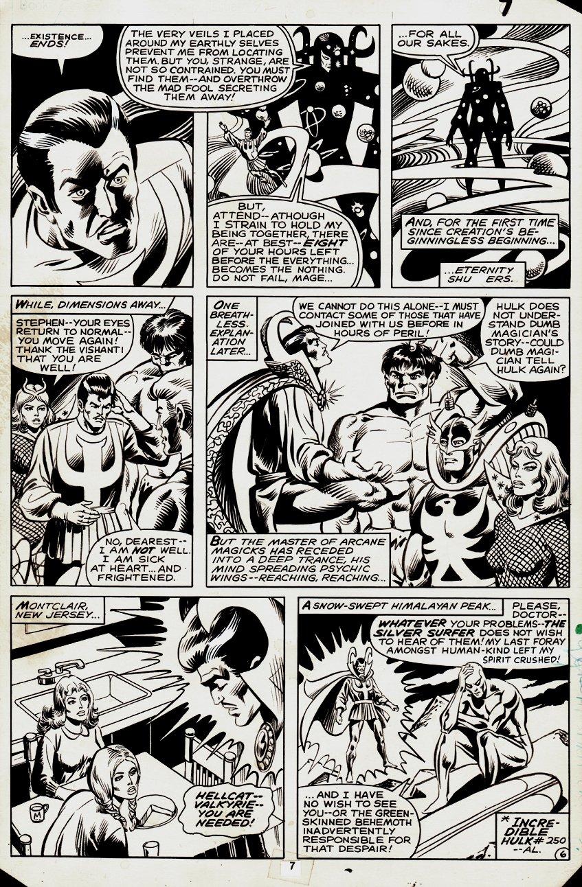 Defenders #92 p 6 (First Surfer After Hulk #250 Battle!) 1980