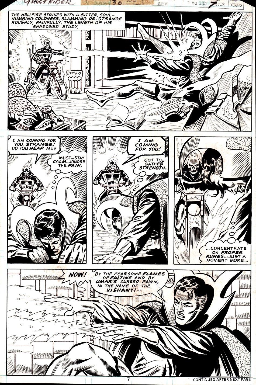 Ghost Rider #30 p 7 (GHOST RIDER / DR. STRANGE BATTLE!) 1978