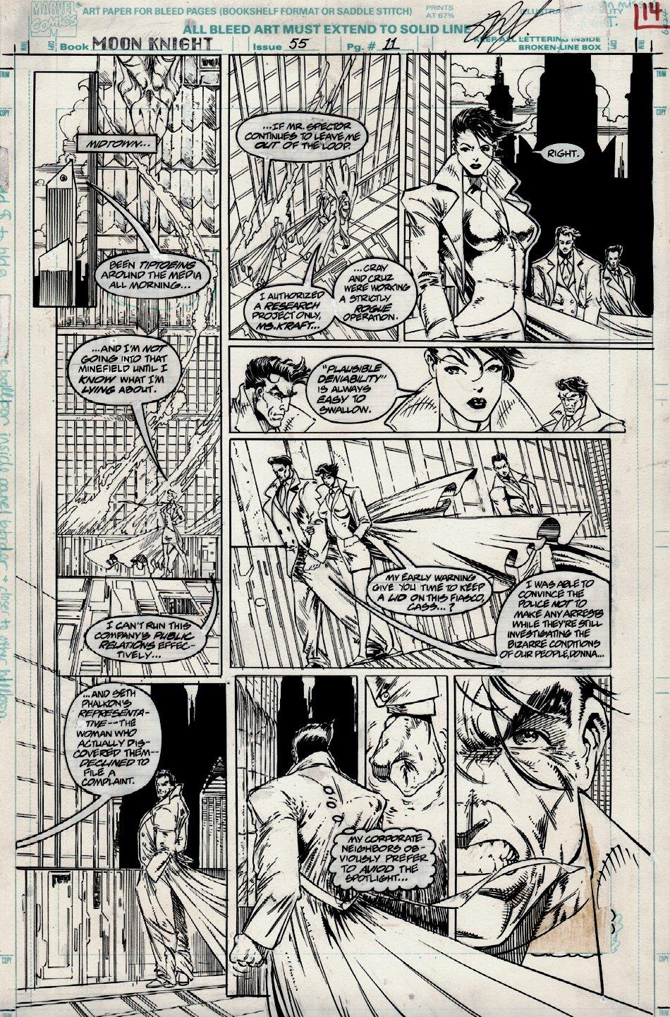 Moon Knight #55 p 11 (VERY FIRST STEPHEN PLATT ART!) 1993