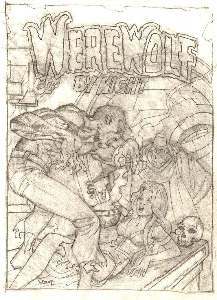 Werewolf by Night #14 Cover Recreation