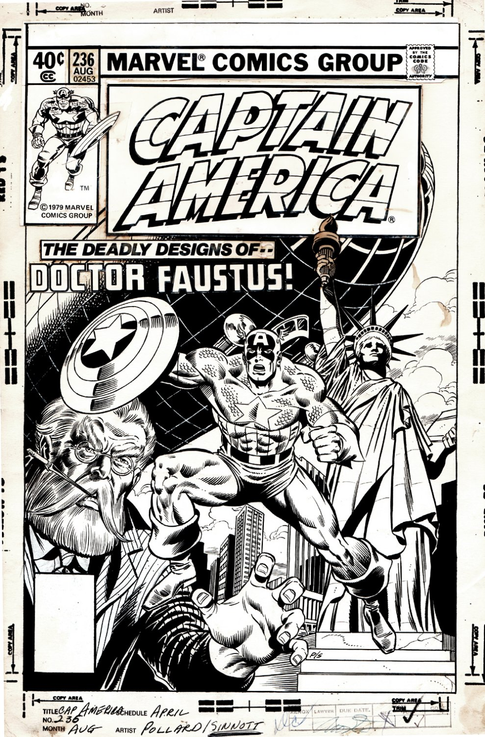 Captain America #236 Cover (1979)