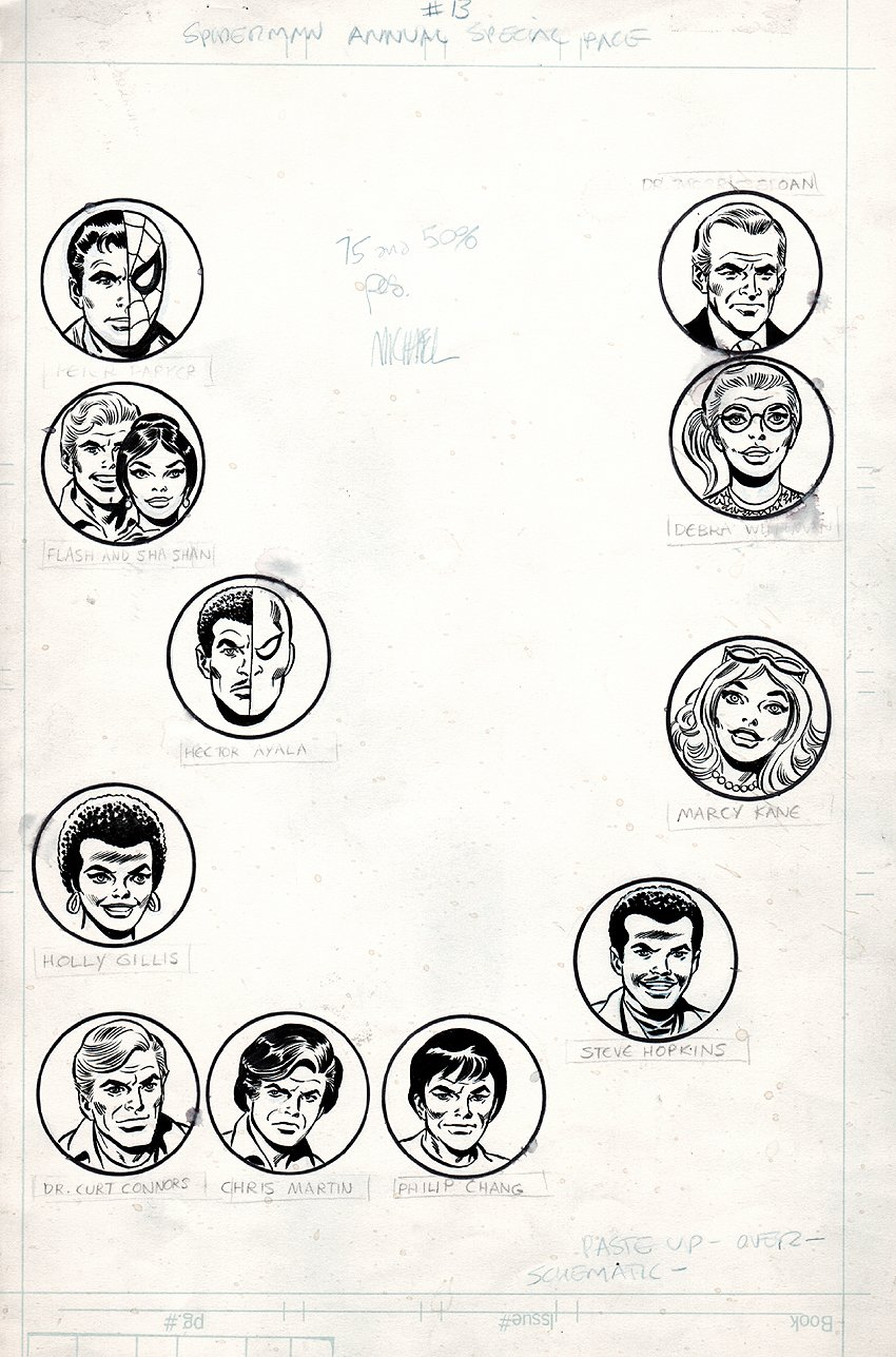 Amazing Spider-Man Annual #13 (12 Heads for Mighty Marvel Bonus Pinup Pages) 1979