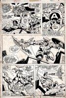 Captain America #185 p 23 (1975) Comic Art