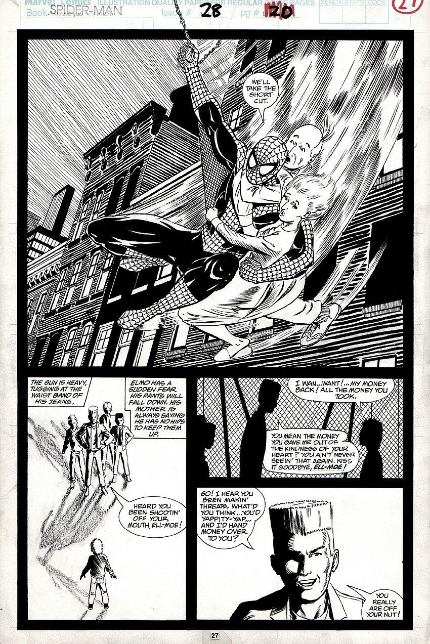 Spider-Man #28 p 27 SPLASH (1992)