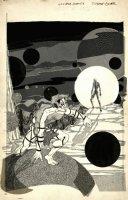 I Am Coyote Cover (Large Art) 1984 Comic Art