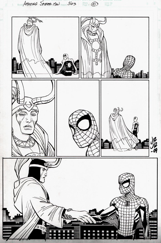 Amazing Spider-Man #503 p 21 (Spider-Man & Loki!) 2003