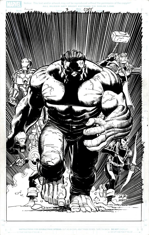 Avengers #7 Cover (2010)