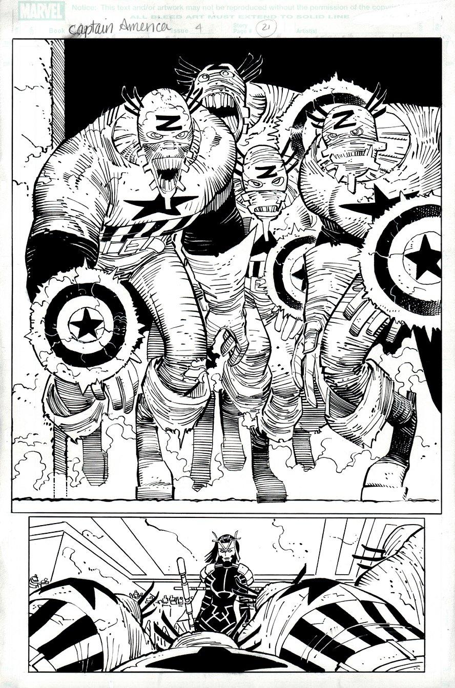 Captain America #4 p 21 SPLASH (2012)
