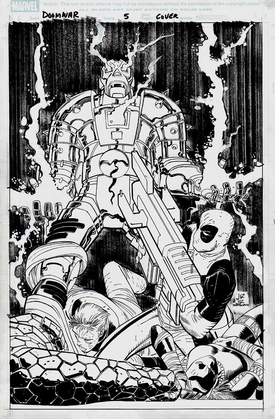 Doomwar #5 Cover (DEADPOOL VS DOOM!!) 2010