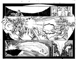 Thor #16 p 19-20 Double Page Spread (1999) Comic Art