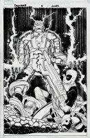 Doomwar #5 Cover (DEADPOOL VS DOOM!!) 2010 Comic Art