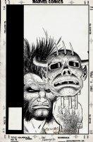 Wolverine Saga #3 Cover (1989) Comic Art
