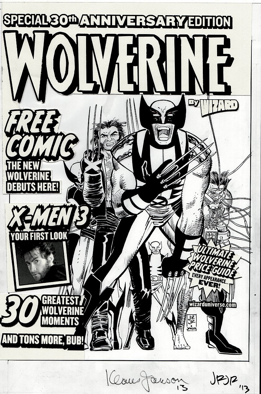 Wizard Magazine Special 30th Anniversary Edition Wolverine Cover (2004)