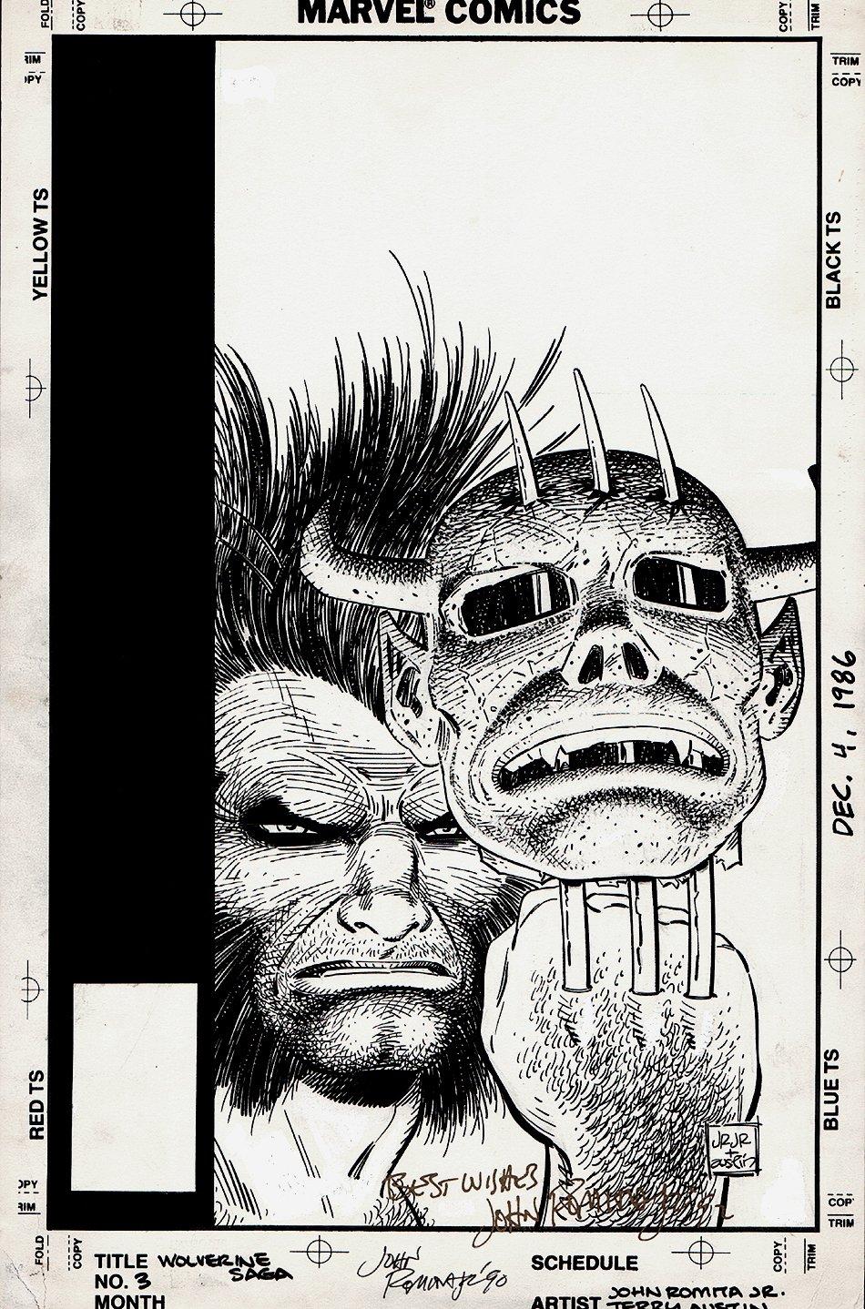 Wolverine Saga #3 Cover (1989)