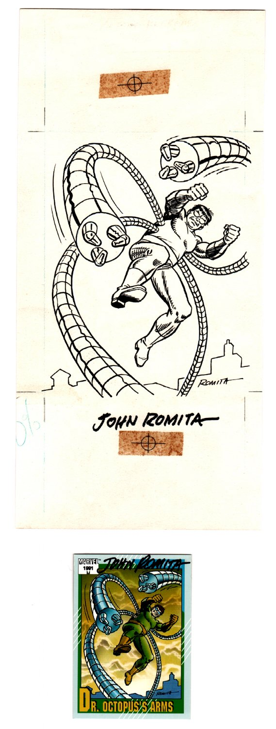 Marvel Series 2 DOCTOR OCTOPUS Published Card Art #136 (1991)