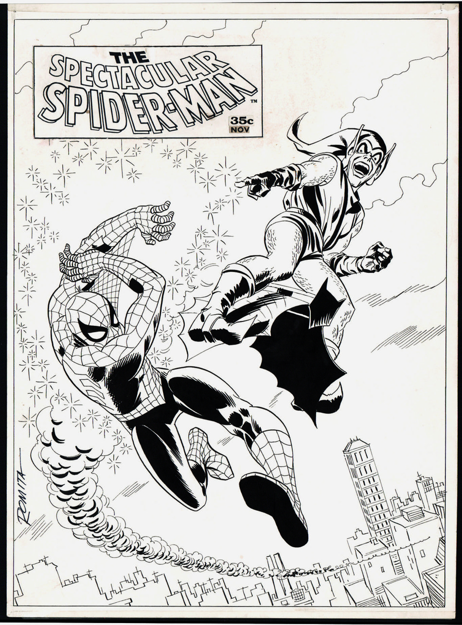 Spectacular Spider-Man #2 Line Art Cover (Large Art) 1968