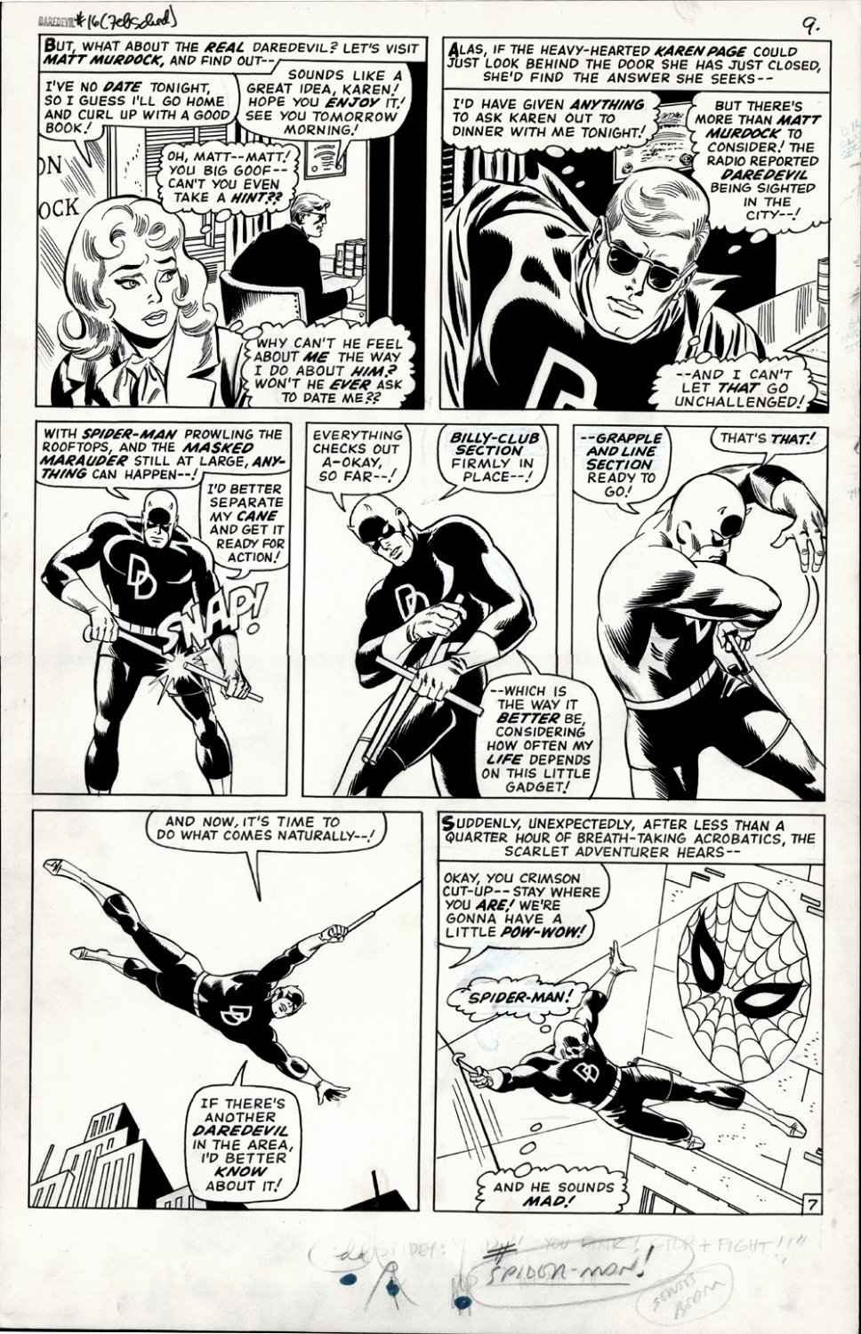 Daredevil #16 p 7 (Large Art) 1965