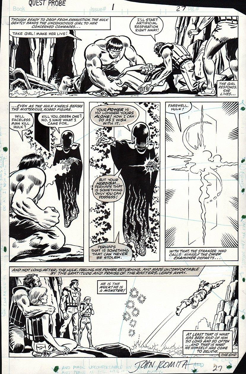 Questprobe #1 Last Page (1984)