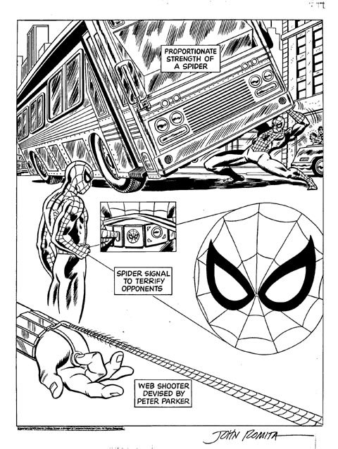 Spiderman 1970s Syndicated Newspaper Strip Header Art