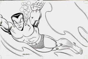 5 Fabulous Decades Of Marvel Comics Double Spread Splash (Large Art) 1989 Comic Art