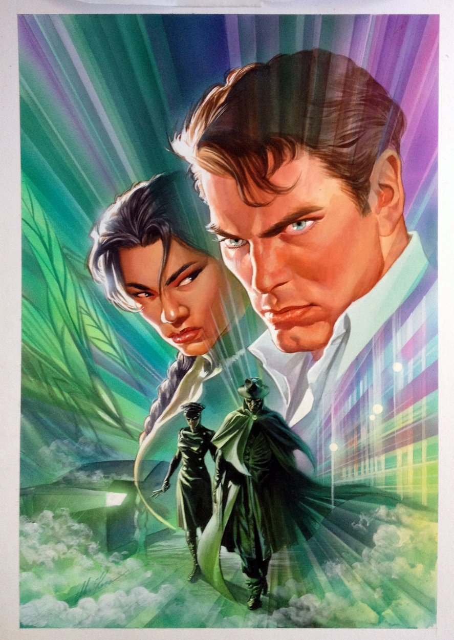 Green Hornet #4 Cover Painting (2010)