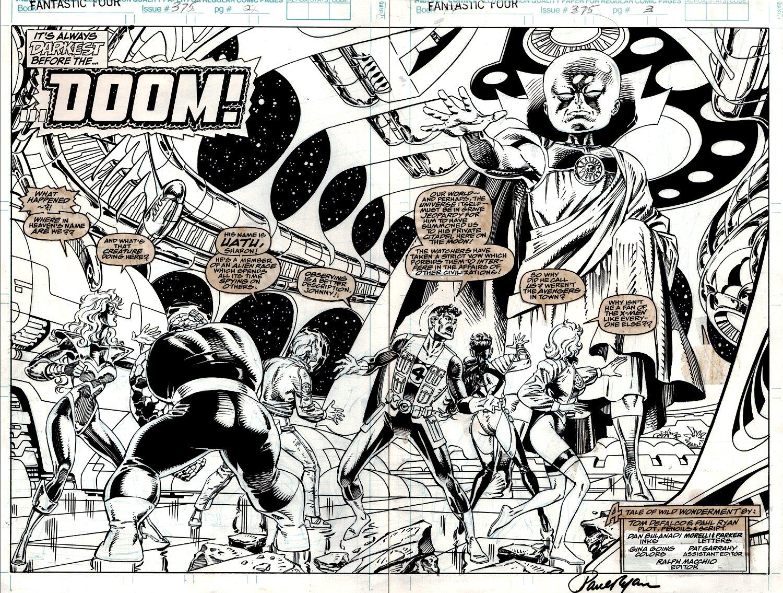Fantastic Four #375 p 2-3 Double Spread Splash (1992)