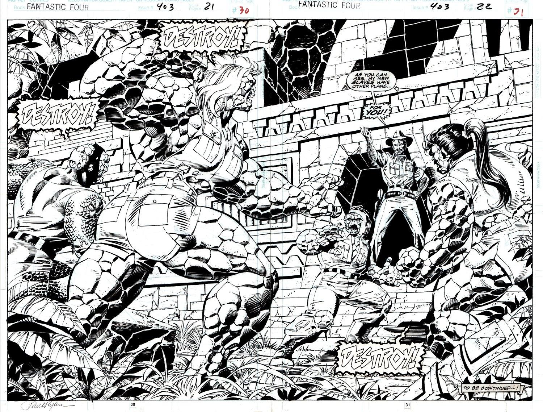 Fantastic Four #403 p 21-22 Double Page Splash (1995)