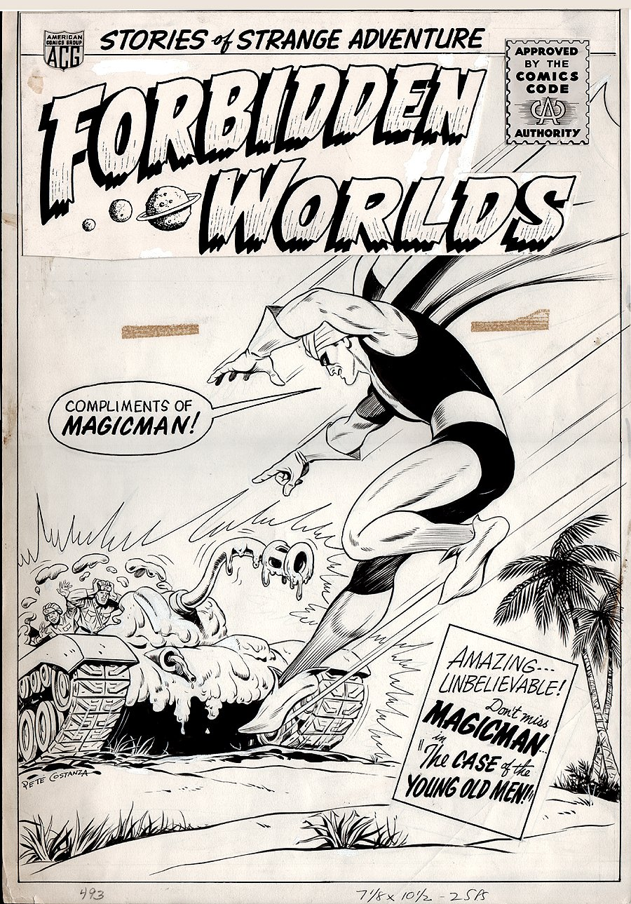 Forbidden Worlds #127 Cover (Large Art) 1965